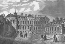 THE BRITISH MUSEUM. Court-yard of Montagu House, 1830. London c1880 old print