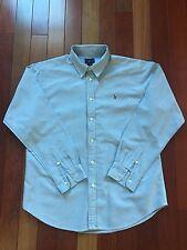 Boy's Ralph Lauren Sport Color Blue Dress Long Sleeve Shirt, Size 20