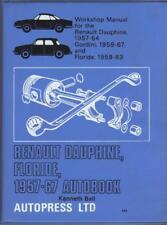 RENAULT DAUPHINE,GORDINI,FLORIDE (CARAVELLE) AUTOBOOKS WORKSHOP MANUAL 1957-1967