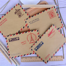 4Sheets Retro Vintage Envelope Postcard LetterStationary Storage Postcard LettEC