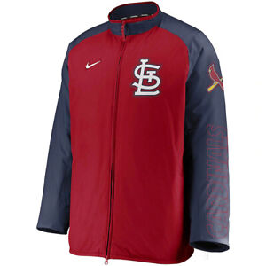 New 2021 St. Louis Cardinals Nike Authentic Collection Dugout Full-Zip Jacket