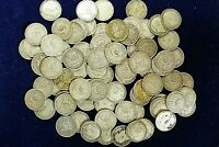 3 x Edward VII 1902 - 1910 Silver One Shilling 1/- Coins