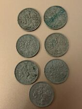 7 x Sixpence Coins 1956,1958,1962,1963,1964,1965,1966