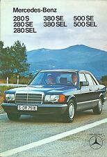 Mercedes Benz 280S SE SEL 380 SE SEL 500SE SEL Netherlands Dutch Brochure 1980