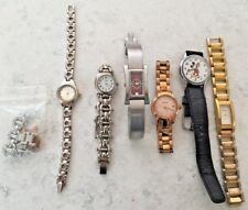 6 LADIES WRISTWATCHES, CARAVELLE, 2 FOSSIL, NINE WEST, + LORUS MICKEY MOUSE