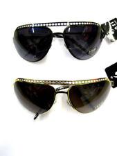 Lunettes de soleil noir marrons en métal pour femme