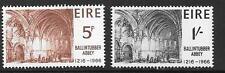 L'Irlanda SG225/6 1966 ballintubber Abbey Gomma integra, non linguellato