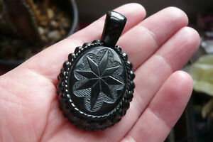 Victorian Whitby Jet Mourning Locket