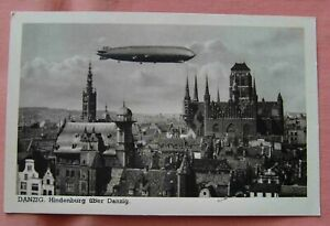 Poland Danzig  with airship zeppelin Hindenburg unused 1920´s