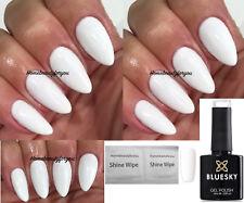 BLUESKY WHITE GEL POLISH WHITE STUDIO 80526 UV LED SOAK OFF,ANY 2 = FILE +WIPES