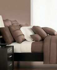Hotel Collection Pintuck Dark Brown Mocha Chocalate Cal King Bedskirt $175.00