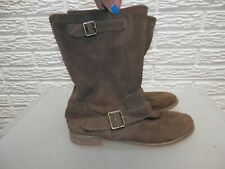 Anthropologie Rebels Bell Brown Leather Suede Boots Size 7.5