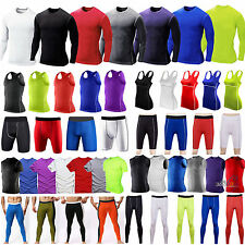 Men Womens Compression Base Layer Armour Thermal Tank Top T-shirts Shorts Pants