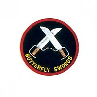 "Double Butterly Swords Martial Arts Patch - 3"" P1235"