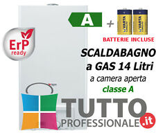 Scaldabagno scaldino GPL/Metano 14 Litri  OPALIA C 14 classe A camera aperta