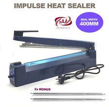 Heat Impulse Sealer 400mm Hand Sealing Machine Element Plastic Poly Bag Sealer