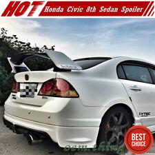Unpainted FOR Honda Civic 8th Sedan Type-R JDM Style Trunk Spoiler 08-11