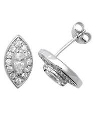 Markenlose Mode-Ohrschmuck aus Sterlingsilber mit Zirkon-Hauptstein für Damen