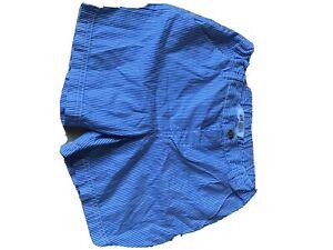 H&M Girls Blue Pinstripe Shorts 8-9 Years Good Condition