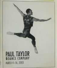 Paul Taylor Dance Company Playbill 2003 City Center Lisa Viola Richard Chen See
