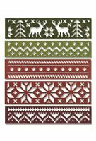 SIZZIX 660981- Thinlits Christmas Die Set by Tim Holtz - HOLIDAY KNIT - UK