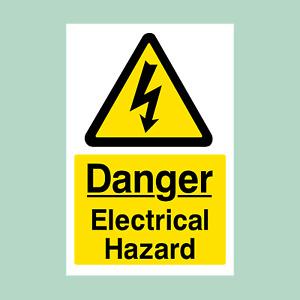 Danger Electrical Hazard Sign/Sticker - All Sizes (MISC130)