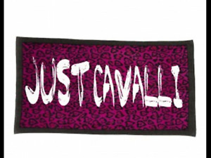 JUST CAVALLI by Roberto CAVALLI Leopard Pink/Black Beach Towel  BNWT RRP £125