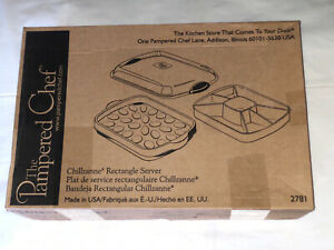 Pampered Chef Chillzanne Rectangle Server #2781 Deviled Eggs New in the Box