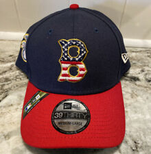 New Era 2019 Stars & Stripes 4th of July 39THIRTY Cap Hat Boston Red Sox M/L
