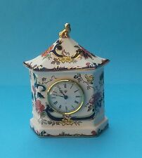 PRETTY MASONS BLUE MANDALAY MANTLE CLOCK
