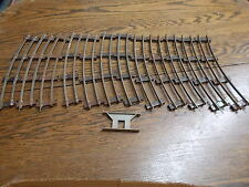 LOT OF OLD VTG ANTIQUE MODEL RAILROAD TRACKS, 2 LINES. ANTIQUE MOST LIKELY