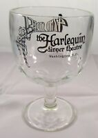 Vintage The Harlequin Dinner Theatre Glass Goblet - Washington D.C. Barware