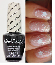 OPI GELCOLOR Soft Shades PETAL SOFT White & Pink Flower Nail Polish Lacquer New