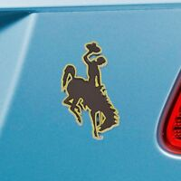 Wyoming Cowboys Heavy Duty Metal 3-D Color Auto Emblem
