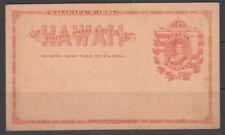 Hawaii 1881 1c Stationery Card Unused / rma2