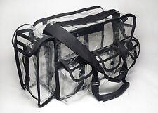 Deluva Bp007 Clear Vinyl Cosmetic Set Bag 16x10x7 W/Handles & Tissue Pouch, work