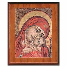 """Picture on wood, Mary & baby Jesus 7""""x6"""" B3"""