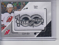 17/18 OPC New Jersey Devils Taylor Hall 100th Anniversary Patch card #P-66 SP