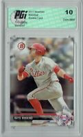 Rhys Hoskins 2017 Bowman #BP117 Rookie Card PGI 10