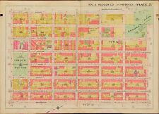 1909 HUDSON COUNTY NEW JERSEY CHURCH SQUARE & HOBOKEN PARK  4TH-10 ST. ATLAS MAP