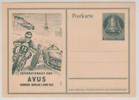 [67656] 1952 POSTAL CARD INTERNATIONALS DMV AVUS 10pf DARK GREEN Mi P30