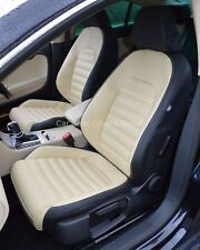 VW Passat CC Genuine Fit Tailored Waterproof Seat Covers Black & Beige Front