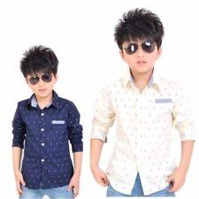 T-shirts, débardeurs et chemises blanches coton mélangé sans marque pour garçon de 2 à 16 ans