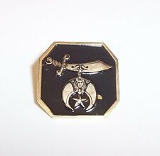 Suez Shriners Lapel Pin-Logo on Black Background-Charles Miller Pote. 2012-Metal