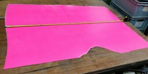 Bright Pink PU Coted Butt Split Leather Panel 1.3mm Thickness LOT 2091