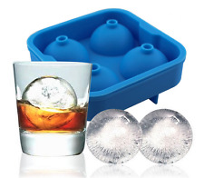 4x 4.5cm Ball 3D Mold Silicone Tray Chocolate Whisky Ice Cube Jelly Fun Mould