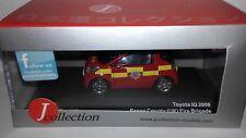 JCollection 1:43 Toyota IQ Brandweer Essex County (UK) 2009 nieuw in display doo
