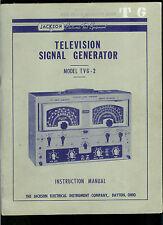 Jackson Television Signal Generator TVG 2 Owner's Manual Operating Instructions