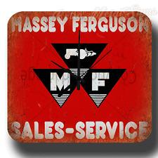 MASSEY FERGUSON SALES SERVICE  VINTAGE RETRO  METAL TIN SIGN WALL CLOCK