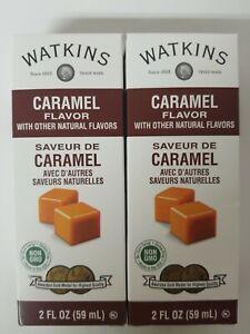 (2 Pack) Watkins Caramel Flavor with Natural Flavors, 2 oz, expiration 11/2023